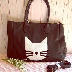 Oversized Kitty Cat Tote/Carryall